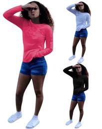 301e869638be Marca Desinger mulheres camiseta de manga longa carta de inverno camisola  moda hoodie senhora casual tops camiseta camisa gola redonda camisa venda  barata