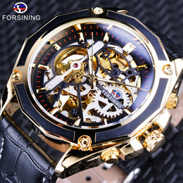 $enCountryForm.capitalKeyWord Australia - Forsining Transparent Case Gear Movement Steampunk Men Automatic Skeleton Watch Top Brand Luxury Open Work Design Self Winding J190614
