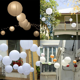 $enCountryForm.capitalKeyWord Australia - 30 Pcs 4-12inch White Paper Lanterns Chinese Lanterne Paper Lampion Wedding Babyshower Party Halloween Hanging Diy Decor Favor