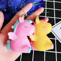 mobile phone decorations 2019 - Fancy Fantasy Rainbow Animal Unicorn Keychain Men's And Women's Bag Jewelry Mobile Phone Keychain Key Ring Pac