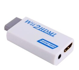 tablet full hd UK - Wii to HDMI Converter Adapter Full HD 1080P Wii to HDMI Wii2HDMI Converter 3.5mm Audio For PC HDTV Monitor Display