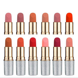 mini waterproof bullets 2019 - 12 Color Lipstick Bullet Shape Mini Lip gloss Waterproof Mate Cosmetic Products for Ladys Lip Makeup cheap mini waterpro
