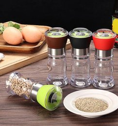salt jars bottle Australia - Kitchen Grinding Bottles Tools Salt Pepper Mill Grinder Pepper Grinders Shaker Spice Container Seasoning Condiment Jar Holder GT76