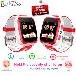 kid children smart watch NZ - 2018 New Children Smart Watch LBS Positioning Kids watch Tracker Real-time Monitor Safety Distance Setting SOS Call Smart Watch