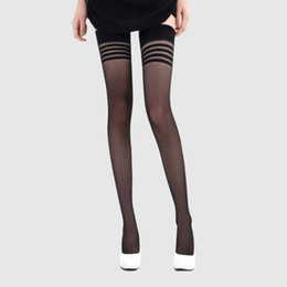 $enCountryForm.capitalKeyWord UK - Women's Socks Hosiery Stockings Sexy Stocking Adults Women Stripe Stockings Thigh High Black White Stay Up Skid Resistance leggings Long