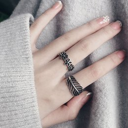 Boho Style Rings Australia - 39 styles retro flower infinity knuckles ladies geometric pattern ring boho open Thai silver ring female personality ring jewelry