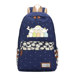 Discount school bags for college students - sumikkogurashi cartoon backpack bag sumikko school bags for teenage College wind High student backpack laptop