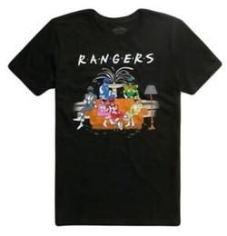 Tv Show Shirts Australia - MIGHTY MORPHIN POWER RANGERS FRIENDS COUCH T-SHIRT RETRO 90s TV SHOW TEE