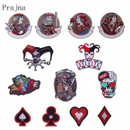 poker t shirts Australia - Prajna Poker King Queen Clown Iron On Patches For Clothing Jacket Skull Embriodered Patch DIY Decoration Stickers For T-shirt F