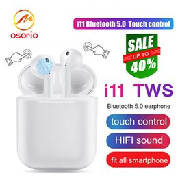 Wireless Headphones Mic Cable Australia - Best seller i11 TWS Bluetooth Headphones With Charge Cable Mic Mini Twins Wireless Earphones Portable In-ear Earbuds For Driver Retail Box