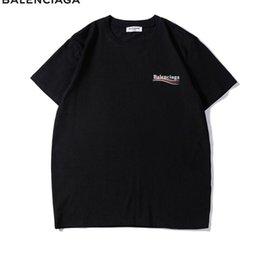 Vente en gros Vague À Rayures Imprimé Mens Design Femmes T-shirts Streetwear Paris Amoureux Été Ras Du Cou Tshirts Marque Top Adolescents T-shirts