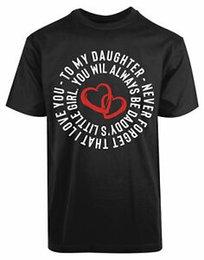 $enCountryForm.capitalKeyWord NZ - Daddys Little Girl Father Daughter Love Gift Red Hearts Fatherhood T Shirt