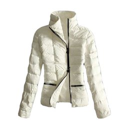 down coats for ladies Canada - Winter Down Jackets Simple Style Women Stand Collar Designer Jacket Outdoor for Lady Outdoor Coat Luxury Clothes Online