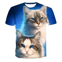 498ab2f6b Cool Cat shirt online shopping - 3D Cat New Cool T shirt Male Female D T  shirt