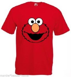 $enCountryForm.capitalKeyWord UK - ELMO T-Shirt xl red mens High quality cotton top extra Large