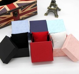 Wholesale Pillow Packs Australia - Watch Box Storage Case Jewelry Display Gifts Packing Fashion Watch boxes paper square watch case with pillow jewelry display box Cheaper
