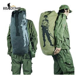 Wholesale Multifunction Canvas Tactical Backpack Rucksacks Military Army Bag Men Women Outdoor Foldable Travel Hiking Camping Bag Xa549yl