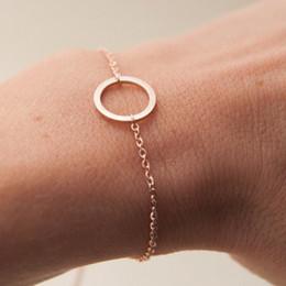 $enCountryForm.capitalKeyWord Australia - 10 Simple Dainty hollow Circle charm Bracelets geometric Circle Outline bracelet Eternity Karma Circle Round Bracelets lucky jewelry