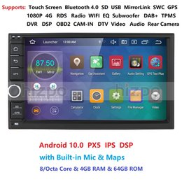 Discount chinese android double din gps - Latest Android 10.0 Octa Core 4G 64G ROM DSP Universal Double 2 Din Car Multimedia Player GPS Navigator Autoradio DAB+ O