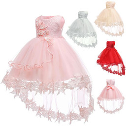 baby girl dresses 18 months Australia - 2019 Trailing Baptism Dress For Baby Girl Dresses Party And Wedding Girl 2-1 Year Birthday Dress Mesh Princess 6 18 Months