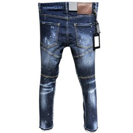 $enCountryForm.capitalKeyWord Australia - Hot New Arrival Top Quality Brand Designer Men Denim Jeans Embroidery Pants Dsd2 Fashion Holes Trousers Italy Size 44-54