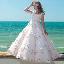 $enCountryForm.capitalKeyWord Australia - Elegant Flower Girl Dresses For Weddings Vestidos daminha Girl Pink Gowns Arabic In Dubai First Communion Dresses For Girls