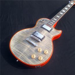 Transparent Black Guitar NZ - Hot sales transparent black color electric guitar with 6 strings