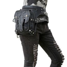 $enCountryForm.capitalKeyWord NZ - Steampunk Waist Bag Womens Leather Leg Bag Men Gothic Punk Bags Handbag Retro Rock Vintage Mobile Phone Mini Packs Hot Sale