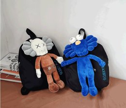 $enCountryForm.capitalKeyWord NZ - Korea ins ugly cute retro anime bag college wind Japanese Harajuku port wind funny doll couple backpack handbag