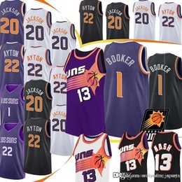 Logo jerseys online shopping - Steve Nash Devin Basketball Jersey Booker Josh Jackson DeAndre Ayton Jerseys Embroidery Logos MEN HOT