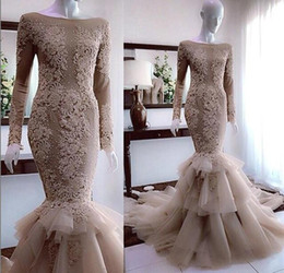 $enCountryForm.capitalKeyWord NZ - Luxurious Beaded Mermaid Wedding Dresses New 2019 Long Cap Sleeve Lace Appliques Chapel Train Tiers Skirt Sexy Dress Fish Tail Bridal Gowns
