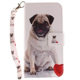 $enCountryForm.capitalKeyWord Australia - Leather Flip cover phone Case for iphone 6 6s 7 8 plus x xs xr max Painted Pug dog with Credit card slot kickstand wallet