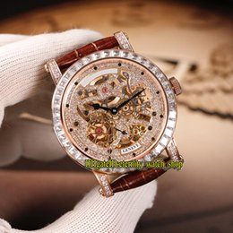 Discount mens diamond watches - High-Quality MEN'S COLLECTION ROUND 7042 B S6 SQT D MVT D Diamond Skeleton Dial Automatic Mens Watches Silver Diamo