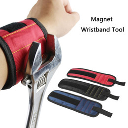 wrist magnets NZ - Storage Bag Magnetic Wrist Support Band with Strong Magnets for Holding Screws Nail Bracelet Belt Support Chuck Sports Tool