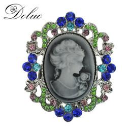 $enCountryForm.capitalKeyWord UK - Popular retro style beauty head brooch alloy Crystal drop oil chest brooch pin clothing accessories Jewelry