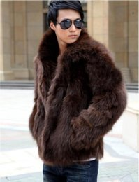 $enCountryForm.capitalKeyWord NZ - Fashion Faux Fur Men's Coat Outerwear Long Sleeve Winter Fox Fur Coats Tops Warm Man's Outwear Clothing Size S-3XL