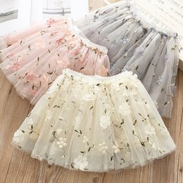 Tutus Boutique Australia - embroidery floral Girls Skirts 2019 new Summer Tutu Skirts Ballet Tutu Kids Skirt princess Tutu Dress Boutique kids designer clothes A4208