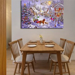 $enCountryForm.capitalKeyWord Australia - Christmas Landscape Comic HD Art Canvas Anime Modern Poster Painting Wall Picture Print Home For Living Room Bedroom Decoration