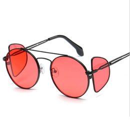 f7e4958f1e0de Fashion Steampunk Sunglasses 4 Lens Goggles Men Metal Wrap Round Eyeglasses  Women Brand Designer Shades Sun Glasses UV400 2019
