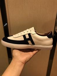 2019b primavera e outono novo designer de luxo tendência de couro dos homens de calçados esportivos, moda high-end selvagens low-top calçados casuais, tamanho: 38-44 venda por atacado