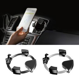 port mount Australia - Creative Car Phone Holder Dashboard Mount Stand Car Cell Phone Holder Air Conditioning Port 360 Rotating Bracket