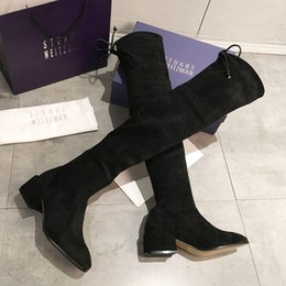 korean style shoes winter NZ - Hot Sale- New Shoes Women Boots Black Over The Knee Sexy Female Autumn Winter Lady Thigh High korean style Tops n0720