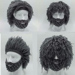 Crochet Ski Mask Australia - Handmade Knitted Men Winter Crochet Mustache Hat Beard Beanies Face Tassel Bicycle Mask Ski Warm Cap Funny Hat Gift New