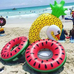 $enCountryForm.capitalKeyWord Australia - Inflatable Pineapple Watermelon Large Swimming Ring Summer Fun Hawaii Pool Beach Party Decoration Float Toys Kids Adult Lifebuoy