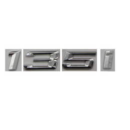 car chrome letter emblem 2019 - Chrome Shiny Silver ABS Number Letters Words Car Trunk Badge Emblem Letter Decal Sticker for BMW 1 Series 135i cheap car