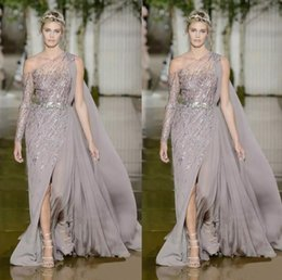 China 2020 High Couture Zuhair Murad Evening Dresses One Shoulder Sexy High Side Split Celebrity Pageant Gowns New Prom Dress Custom Made supplier zuhair murad couture dresses suppliers