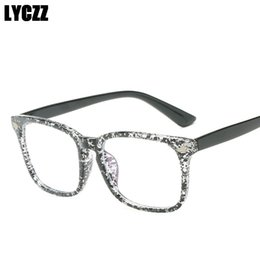 51aed984ba0 LYCZZ PC Spectacle Frame Classic Black Women Retro Rice nail Eyeglasses Frame  Eyewear Men Square Decoration Optical oculos