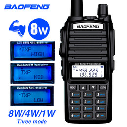 Ham radios online shopping - Baofeng UV W Two way Radio Dual hand With Earphone MHz FM CB Ham Walkie Talkie For Adult Outdoor Transceiver