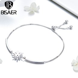 Cooper Chains Australia - BISAER Never Fade Bling Bling Chic Cooper Chain Bracelet for Women Wedding Statement Crystal Jewelry Gifts GSB049