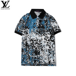 juniors tee shirts UK - Men's Designer Polo Shirt Lapel Neck Short Sleeve Striped Print Men's Polo Casual Junior Tee